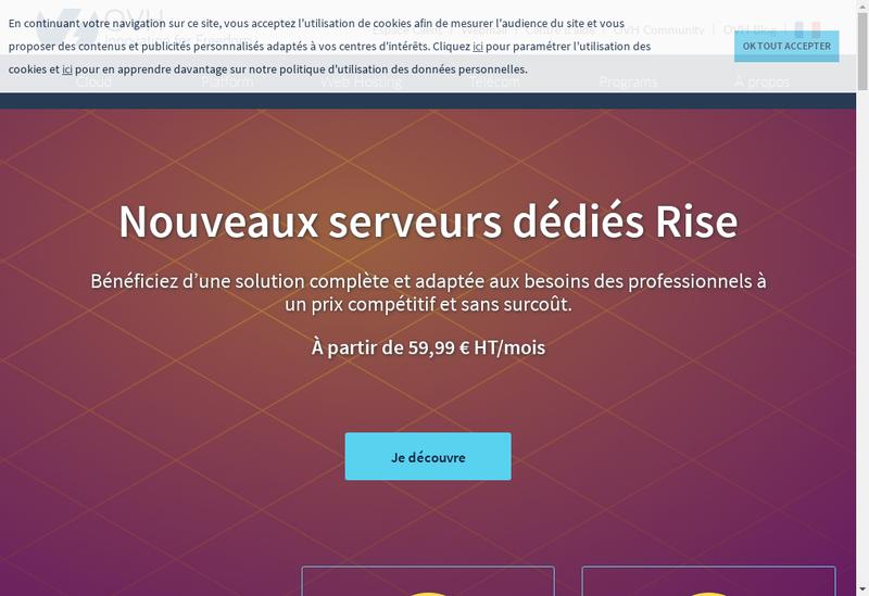 Capture d'écran du site de Creosia
