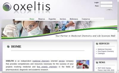 Site internet de Oxeltis Pharma