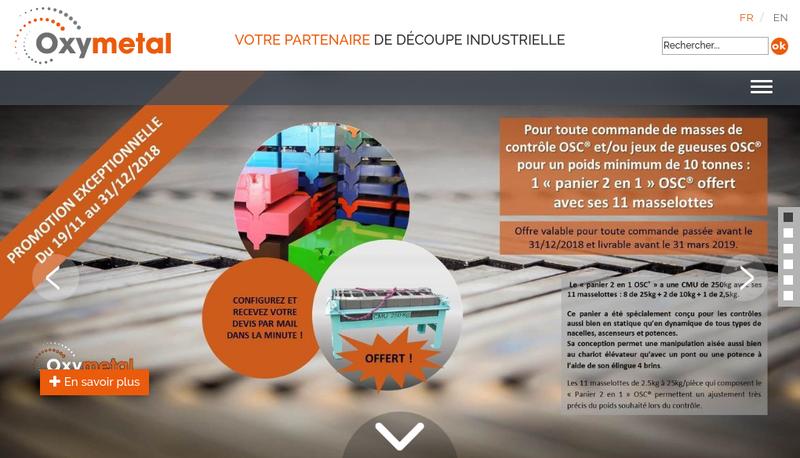 Capture d'écran du site de Oxymetal Est