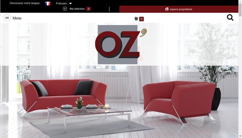 Capture d'écran du site de Oz'Invest
