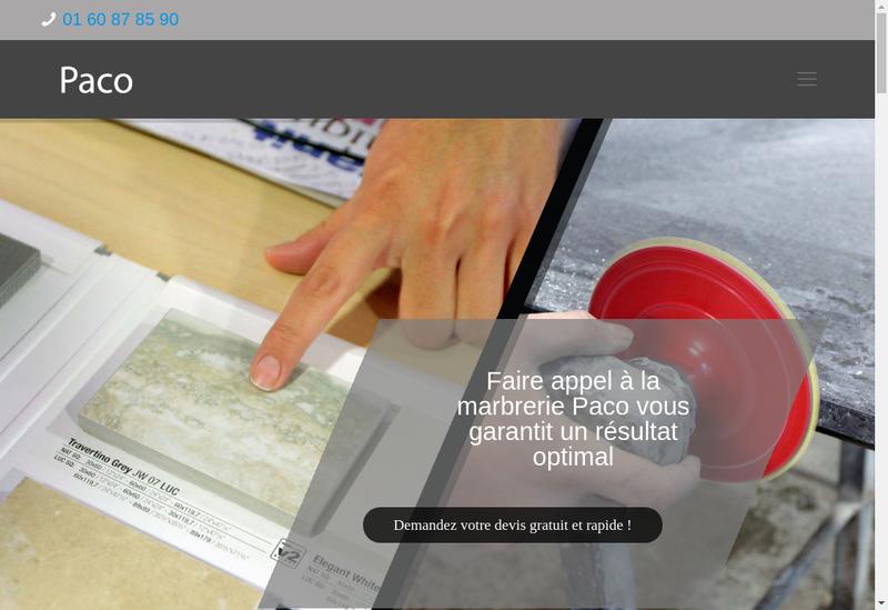 Capture d'écran du site de PACO
