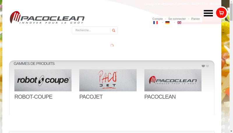 Capture d'écran du site de Pacoclean Com