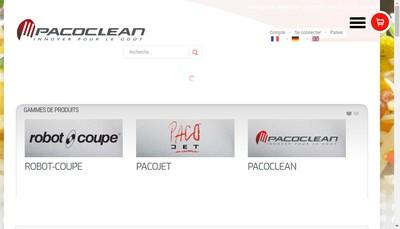 Site internet de Pacoclean Com
