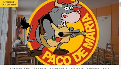 Site internet de Paco de Maria