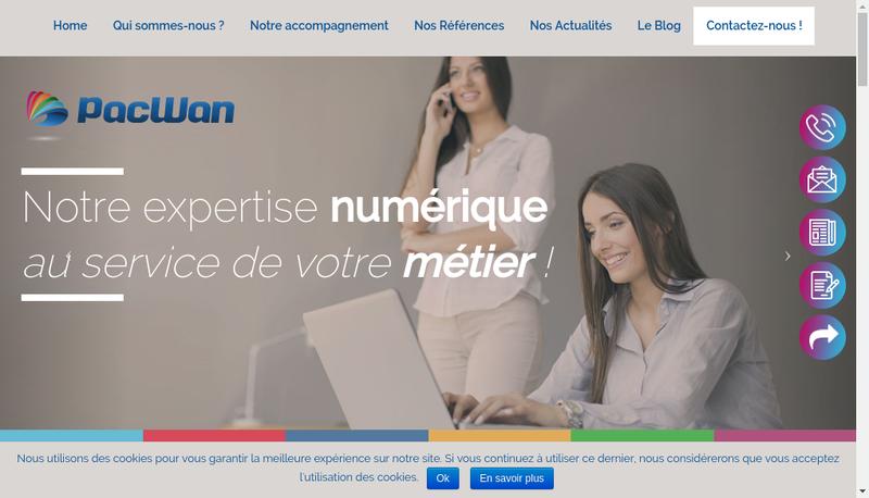 Capture d'écran du site de Pacwan