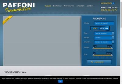Site internet de SARL Paffoni Immobilier