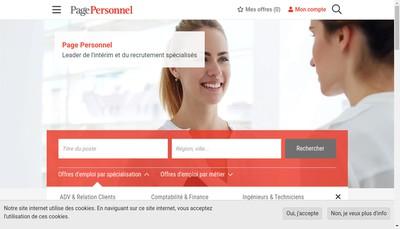 Site internet de Page Personnel
