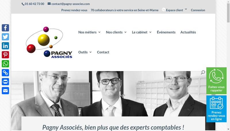 Capture d'écran du site de Pagny Associes Ressources Humaines
