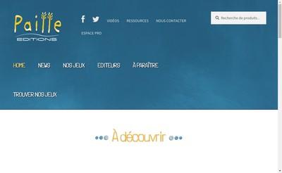 Site internet de Paille Editions