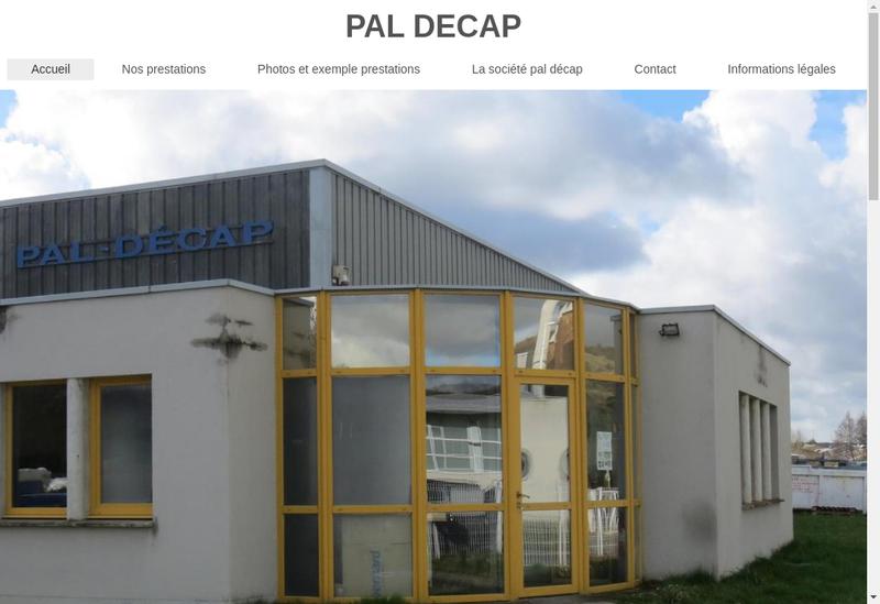Capture d'écran du site de Pal Decap
