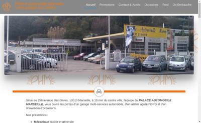 Site internet de SARL Palace Automobile Marseille