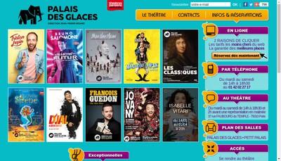 Site internet de Le Theatre du Palais des Glaces
