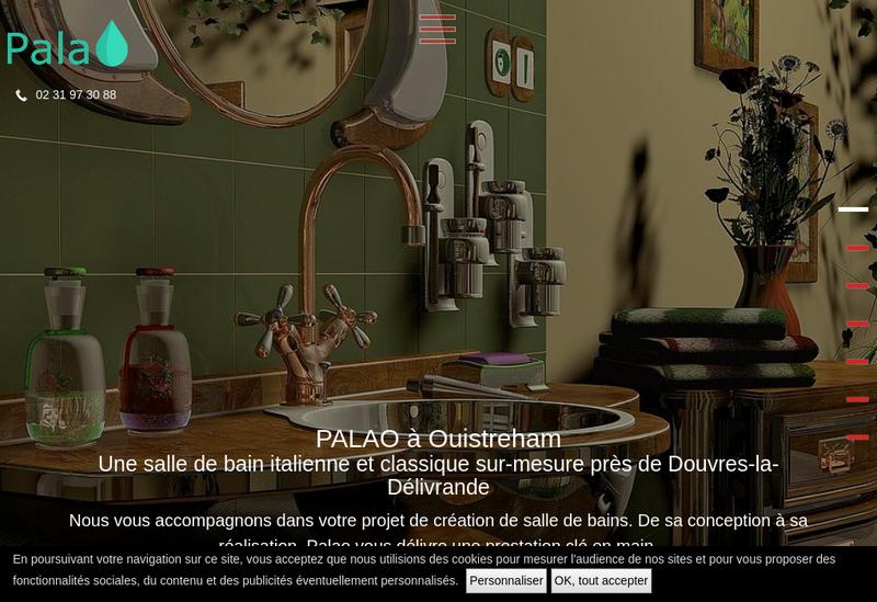 Capture d'écran du site de Palao
