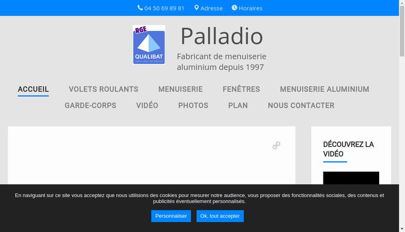 Capture d'écran du site de Palladio
