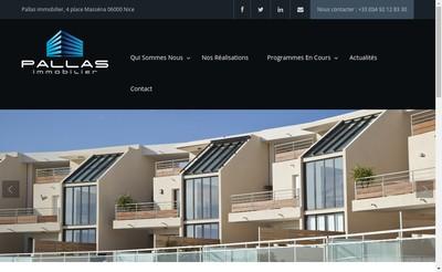 Site internet de Pallas Immobilier