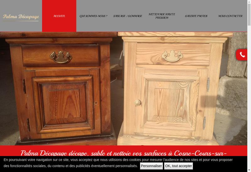 Capture d'écran du site de Patrick Palma