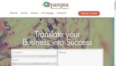 Site internet de Pangea Localization Services