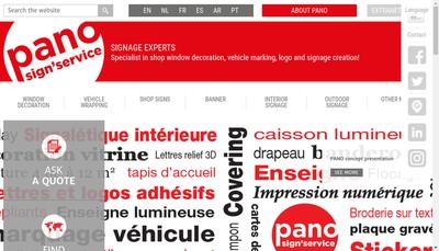 Site internet de Pano Boutique