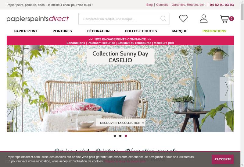 Capture d'écran du site de Papierspeintsdirect Com