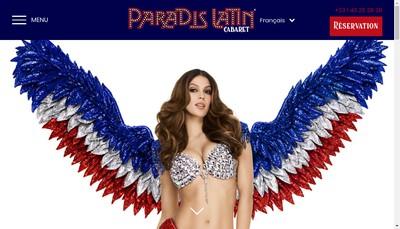 Site internet de Le Paradis Latin SA