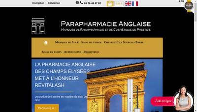 Site internet de Selas Pharmacie Anglaise des Champs-Elysees