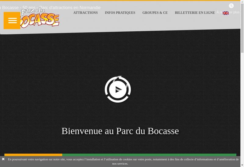 Capture d'écran du site de Parc du Bocasse