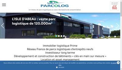 Site internet de Parcolog Gestion