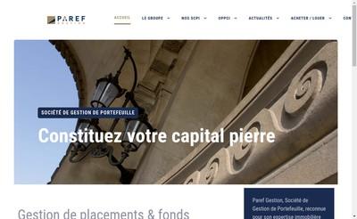 Site internet de Paref Gestion
