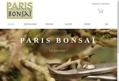 Site internet de Paris Bonsai