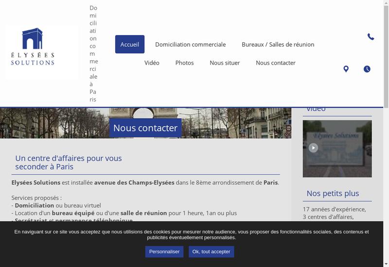 Capture d'écran du site de Ficas
