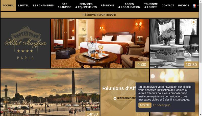 Capture d'écran du site de Hotel Mayfair