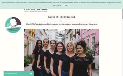 Site internet de Paris Interpretation