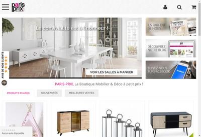 Site internet de Paris Prix