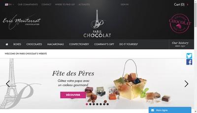 Site internet de Paris Chocolat