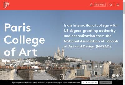 Site internet de Paris College Of Art - Cupa (Center For University Programs Abroad) - Atep Leconte