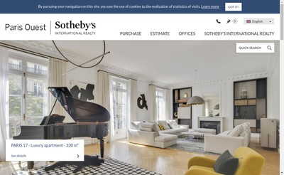 Site internet de Paris Xvi