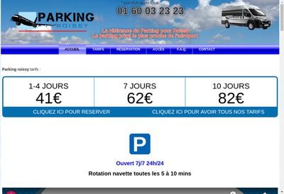 Site internet de Parking Roissy