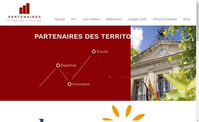 Site internet de Partenaires Finances Locales