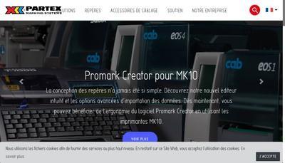Site internet de Partex