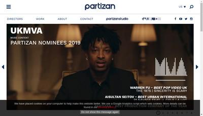 Site internet de Partizan Films