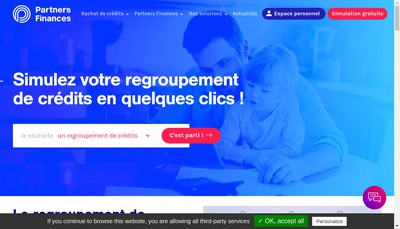 Site internet de Partners Finances