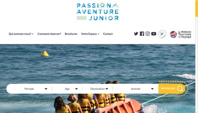 Site internet de Passion Aventure Junior