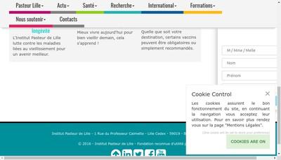 Site internet de Institut Pasteur de Lille