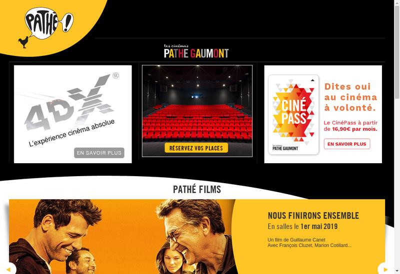 Capture d'écran du site de Gaumont Toulouse Wilson