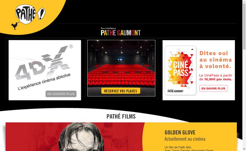 Capture d'écran du site de Gaumont Montparnasse