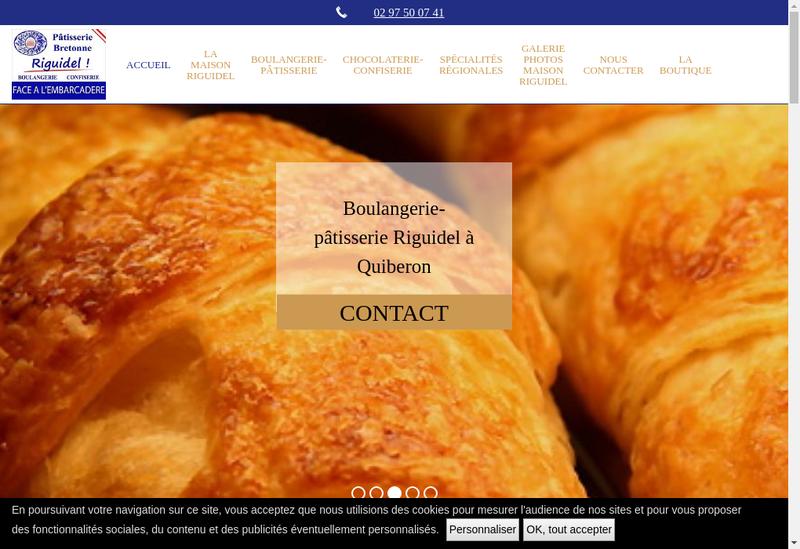 Capture d'écran du site de Maisons Riguidel SARL
