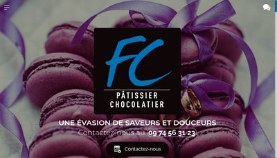 Site internet de Patisserie Florent Charrier