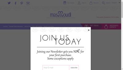Capture d'écran du site de Masmoudi