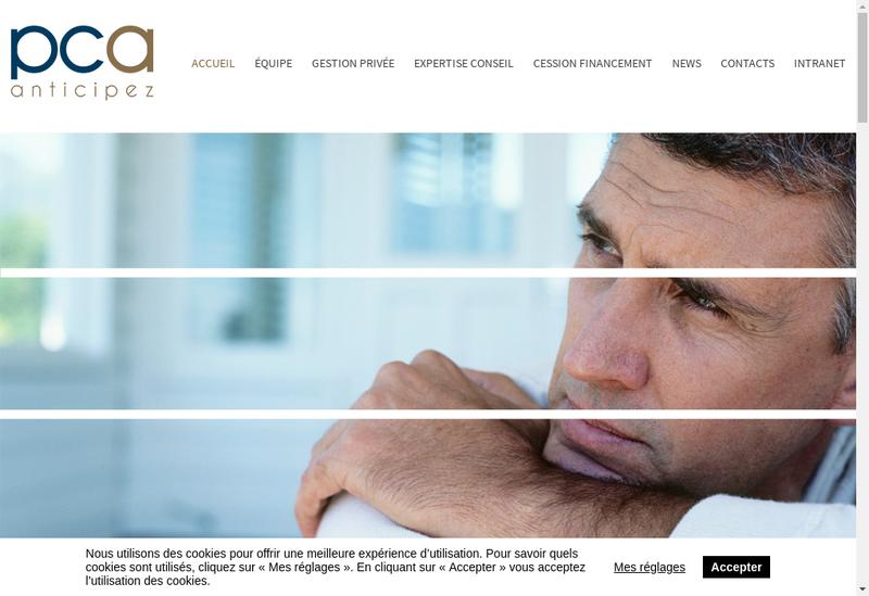 Capture d'écran du site de Patrimoine Conseil & Associes Est