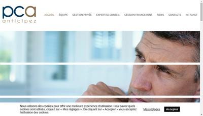 Site internet de Patrimoine Conseil & Associes Est